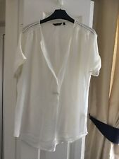 Ladies Massimo Dutti Cream Silk Top Size 12