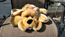 "Kids of America Soft Brown Dog 20""Long 2003 with red bow"