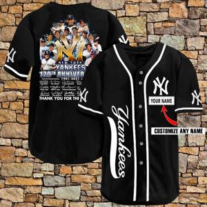 Personalized New York Yankees 120th Legend Custom Men Women Baseball Jersey