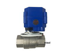 "motorized ball valve 3/4"" NPT, DN20, 2 way 12VDC CR04,stainless steel electrical"
