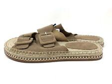 Zara Women's Buckle Sandals EU 37 US 6.5 Slides Leather Tan 2 Straps  5601/301
