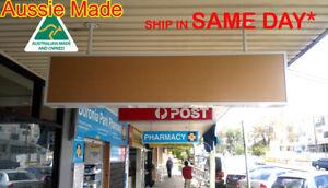 Shop lightbox sign, Awning Light Box, 180x30x15cm,1row= 2lights,2acrylics, WHITE
