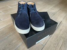 2 month old Harrys of London DANIEL Suede Boots In Blue  Size UK 8.5 COST £599 !