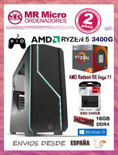 Ordenador  Ryzen 5 3400G/ 16GB DDR4/ SSD 240GB/ Gráficos Radeon RX Vega 11