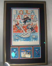 Lollapalooza 2013 Official Poster by Michael Sieben Framed Tickets & Passes