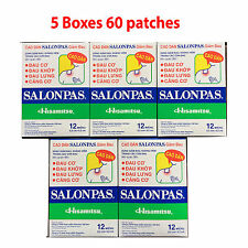 Salonpas Patch Hisamitsu Pain Relieving 5 Boxes 60 Patches Made in Vietnam
