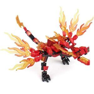 115pcs Fire Dragon Knight Model Building BlocksToys For Kids