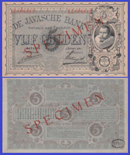 NETHERLANDS INDIES 5 GULDEN 1921 UNC - Reproduction