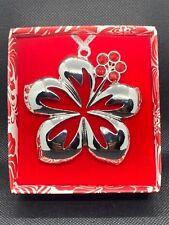 Christmas Jewel Metal Ornament Hibiscus Hawaii