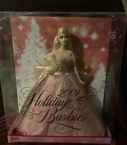 2009 HOLIDAY Barbie Doll 50th Anniversary Beautiful Pink Gown Blonde #N6556 NRFB