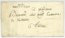 No 11 ARM. D'ITALIE Milano 1800/1803 Husaren Armeebrief Napoleon Soldatenbrief