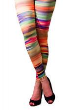 Ladies Multi Coloured Striped Leggings ~ Size 8-10 ~ Spectrum Legwear ~ Clubwear