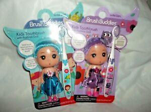 Brush Buddies Girls Kids Ultra Soft Toothbrush with Fashion Doll-Set of 2