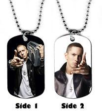 DOG TAG NECKLACE - Eminem 2 Rap Rapper Singer Songwriter jewelry
