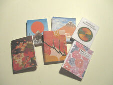 6 Dolls House Miniature Japanese Books