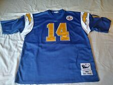 DAN FOUTS SAN DIEGO CHARGERS MITCHELL & NESS FOOTBALL JERSEY SZ 54 Silver Anniv