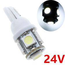 50x White 24V T10 5SMD LED W5W 168 Car Truck SUV Side License Plate Door Light