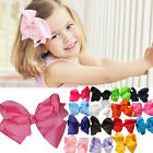 "15/30pcs 5.5"" Big Hair Bows Boutique Girls Baby Alligator Clip Grosgrain Ribbon"