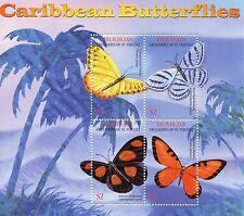 Palm Island Grenadines St Vincent 2003 MNH Caribbean Butterflies 4v M/S Stamps