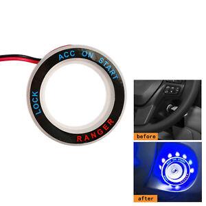 Ice Blue LED Ring Start Key Remote For Ford Ranger T6 Px2 Mk2 WildTrak 2012-2018