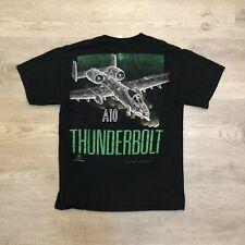 Vintage 1993 Thunderbolt Blackbird Fighter Jet T Shirt Mens Size Medium