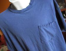 2xl 3xl True Vtg 80s BLUE SOVERIEGN ALL COTTON CLASSIC POCKET T-shirt  USA