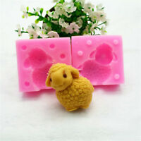 3D Sheep Fondant Cake Silicone Mold Soap Chocolate Mould Clay Resin Baking G
