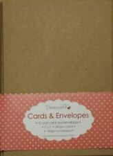 """60x Natural Brown Buff 5""""x7"""" Recycled Kraft Card Blanks Envelopes (dovecraft)"""