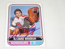 RICHARD BRODEUR AUTOGRAPHED 1975-1976 OPC O-PEE-CHEE WHA CARD