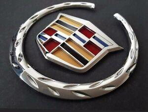 "Cadillac Front Grille 6"" Emblem Hood Badge Logo Chrome Color Symbol New Ornament"