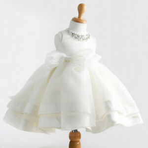 0-2Y Infant Toddler Baby Girls Christening Wedding New Baby Party Formal Dress