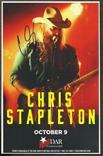 Chris Stapleton autographed concert poster 2016