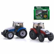 Peterkin Die Cast 3 X Classic Country Tractors Colours Red / Blue and Green