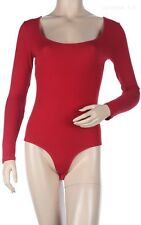 Long Sleeve Solid Scoop Neck Two Snap Buttons BODYSUIT with Twist Back S M L