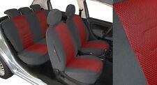 Mercedes W123 W124 Maßgefertigte Sitzbezüge Velours Stripes TrueColorRot