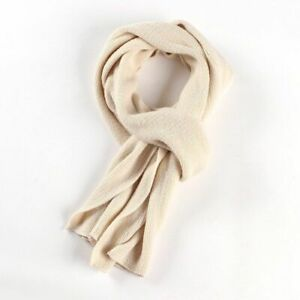 1pc Knitted Solid Winter Scarves Acrylic Casual Warmer Scarf Men Outdoor Fashion