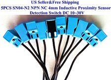 5PCS SN04-N2 NPN NC 4mm Inductive Proximity Sensor Detection Switch DC 10~30V US