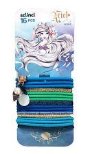 Disney's Ariel The Little Mermaid Scunci 16 Piece Hair Ties w Shells LimitEditin