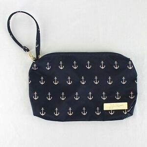 Jujube Be Quick Legacy Pouch Wristlet Bag The Admiral Navy Blue Anchor Print