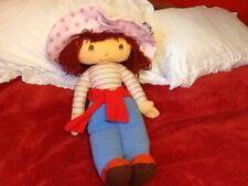 """Vintage 25"""" Strawberry Shortcake Rag Doll"""