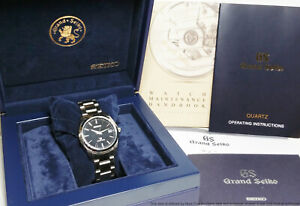Grand Seiko SBX061 9F62-0AB0 Mens Watch Black Dial Box Papers