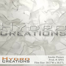 HYDROGRAPHIC FILM FOR HYDRO DIPPING WATER TRANSFER FILM WHITE FLAMES - SMOKE