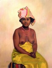"Nude African Woman 8.5x11"" Photo Print Felix Edouard Vallotton Fine Art 1910 USA"