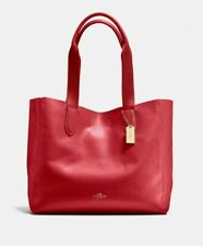 Coach Derby Tote, Red, New Factory Sealed, $298 Retail