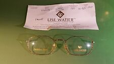 Lise Watier vintage frames (No arms) brand new optometrist sample with card