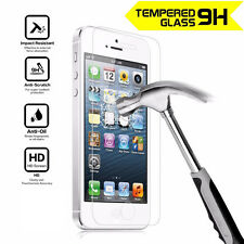 100% Genuine HD Clear Tempered Glass Front Screen Protector for iPhone 5 5S SE