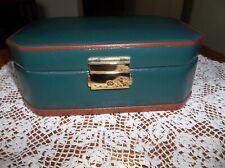 Vintage 1997 Wolf Designs Locking Jewelry Box Case Genuine Green Leather