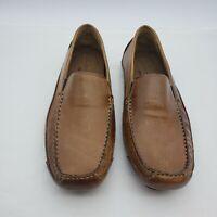 Rockport Walkability Size 9 M Brown Leather Slip On Moc Toe Loafer Mens Shoes