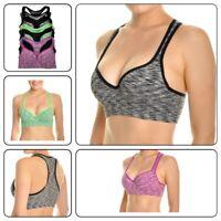 Women Racer back Sports Bras High Impact Gym Active wear Bra