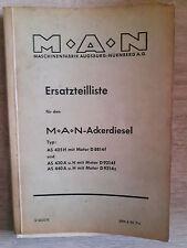 Originale Ersatzteilliste MAN Ackerdiesel AS 425 430 440